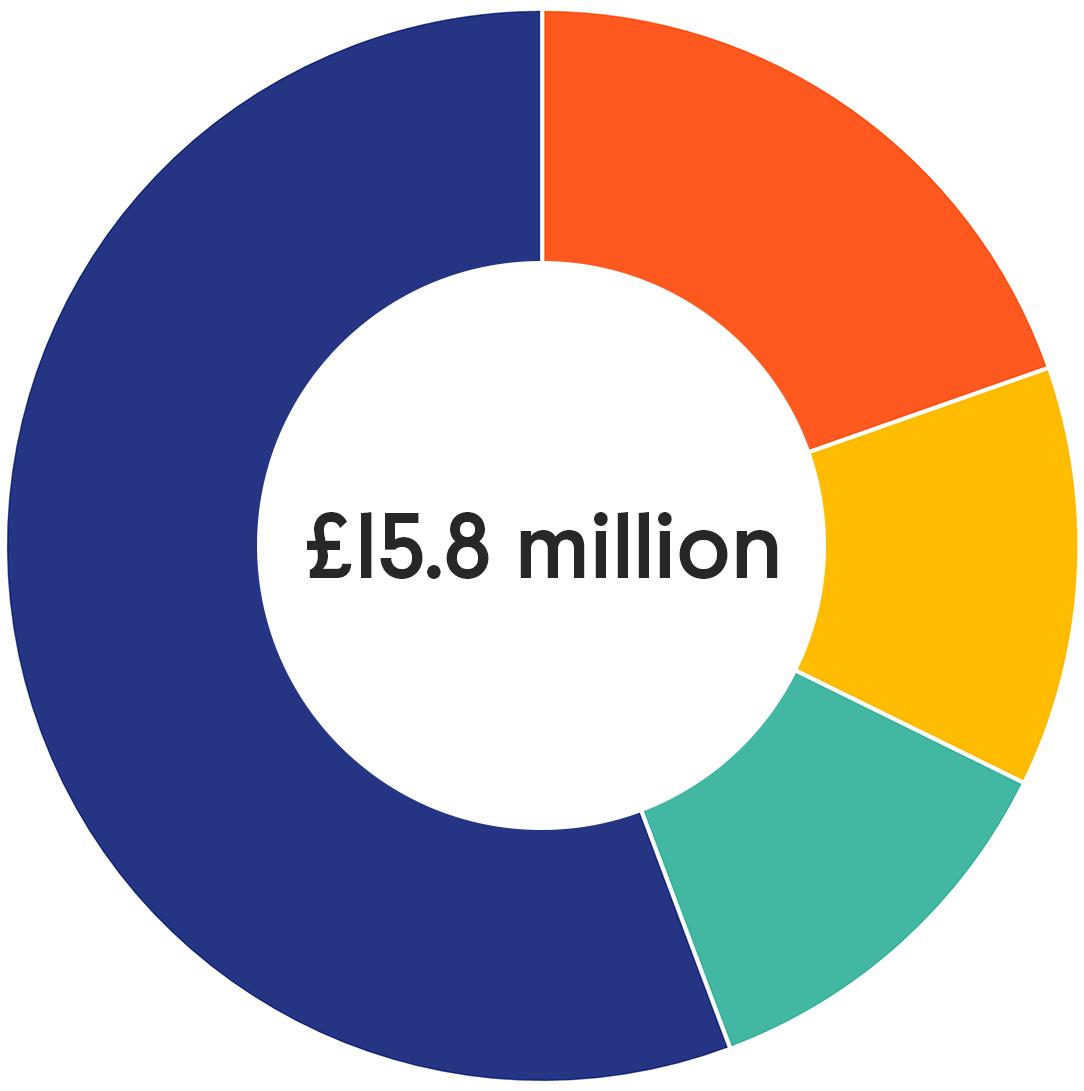 Impetus 2019 Financials Pie Chart